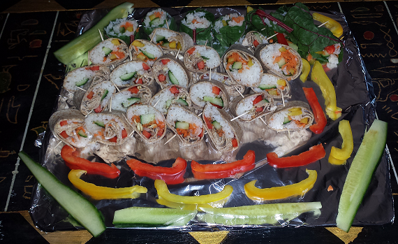 AterImber.com - Faushi Platter - Vegan food, sushi, vegetables, healthy, recipe
