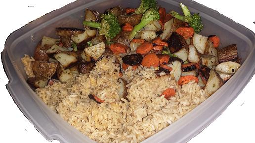 AterImber.com Vegan Recipe - Roasted Veggie Rice