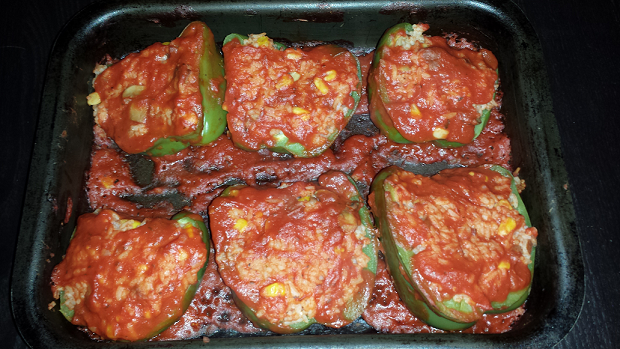 AterImber.com Vegan Recipe - Stuffed Peppers