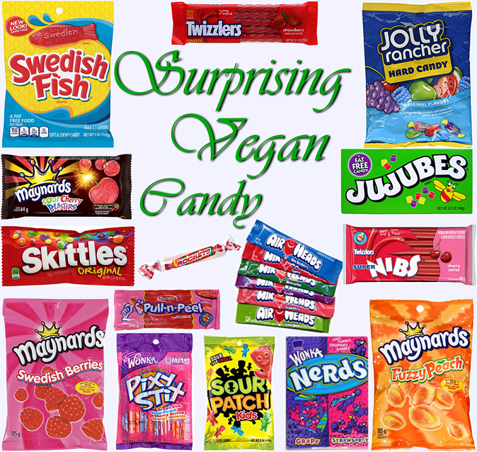 AterImber.com - The Veg Life - Vegan Tips - Surprising Vegan Candy Collage