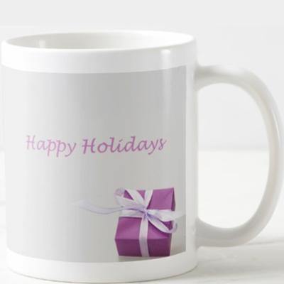 AterImber.com - Merch - Vegan Friendly - Holiday Mug Pink - Christmas, Holidays, Gifts, Presents