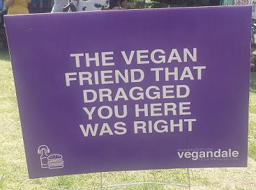Vegandale Humour Sign - AterImber.com - The Veg Life - Vegandale Festival 2018