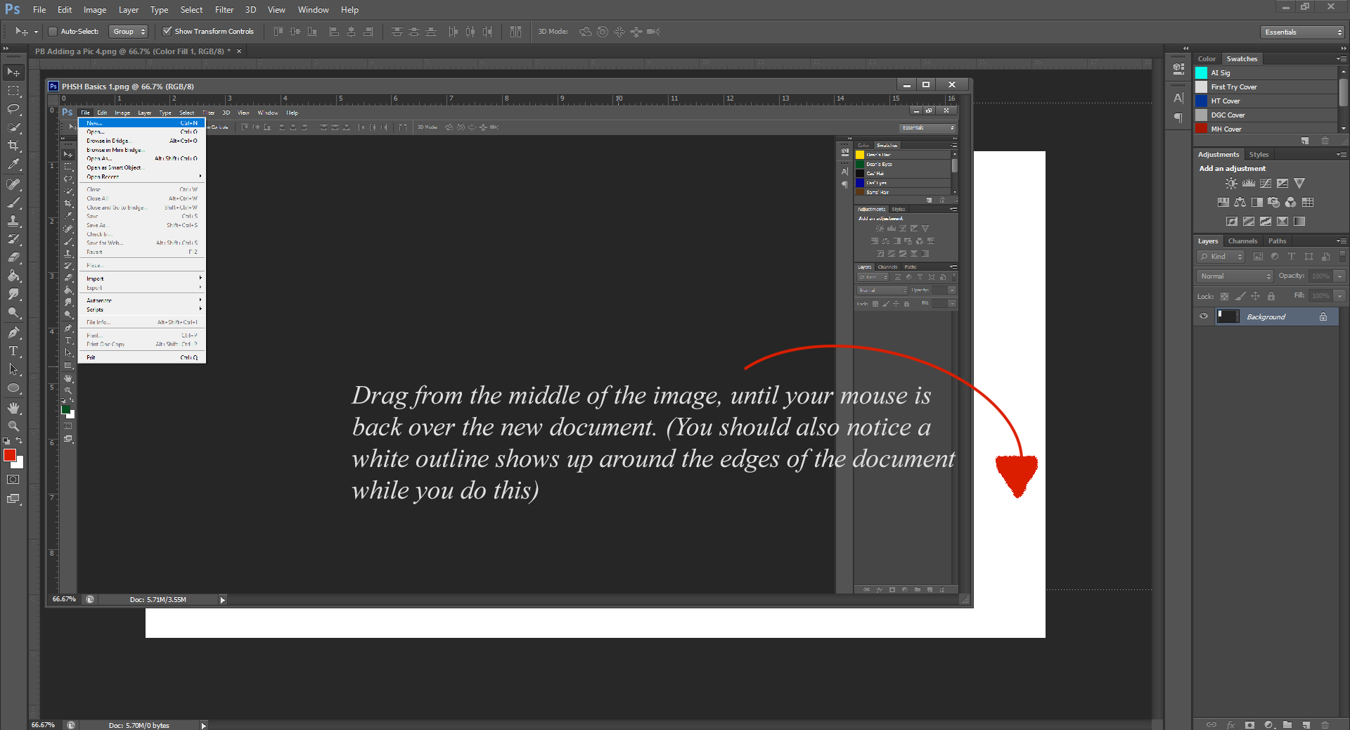AterImber.com - Writing Tips - PHSH Tutorial Intro - Adding A Picture 5 - Photoshop