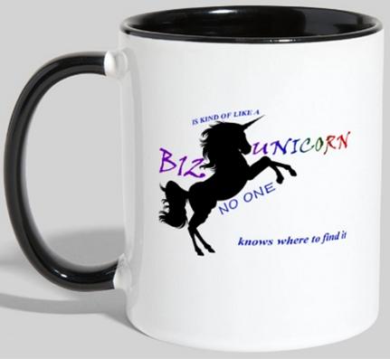 AterImber.com - The Veg Life - Vegan Merch - B12 Unicorn Mug - Spreadshirt, contrast mug, vegan humour