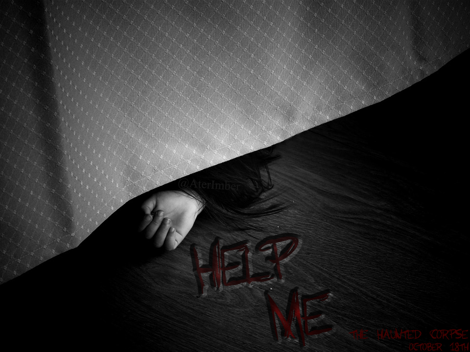 AterImber.com - Writing - Book Posters - The Haunted Corpse - Help Me Poster