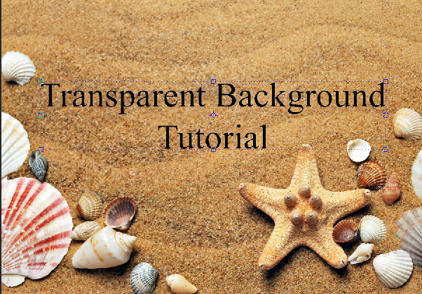 AterImber.com - Writing Tips - PHSH Tutorial - Making a Transparent Background - Trans Beach
