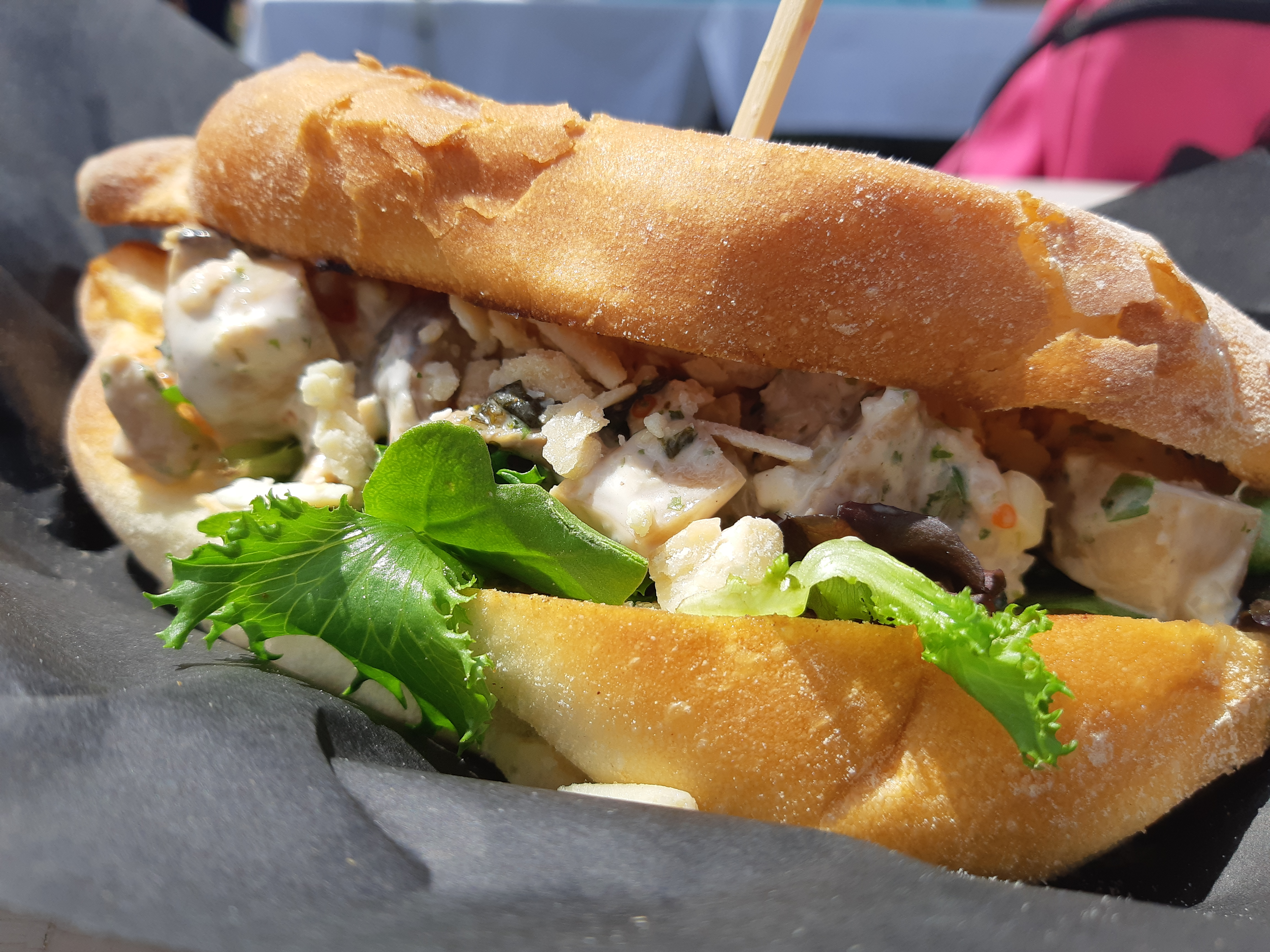 AterImber.com - The Veg Life - Vegandale Festival 2019 Review - Main Vegan Deli Lobstar Roll - vegan food, food reviewer, vegan festival