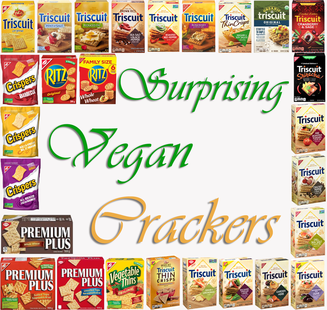 AterImber.com - The Veg Life - Surprising Vegan series - Crackers - vegan food, surprising vegan food, food share, Ritz, Triscuits, Premium Plus, Crispers