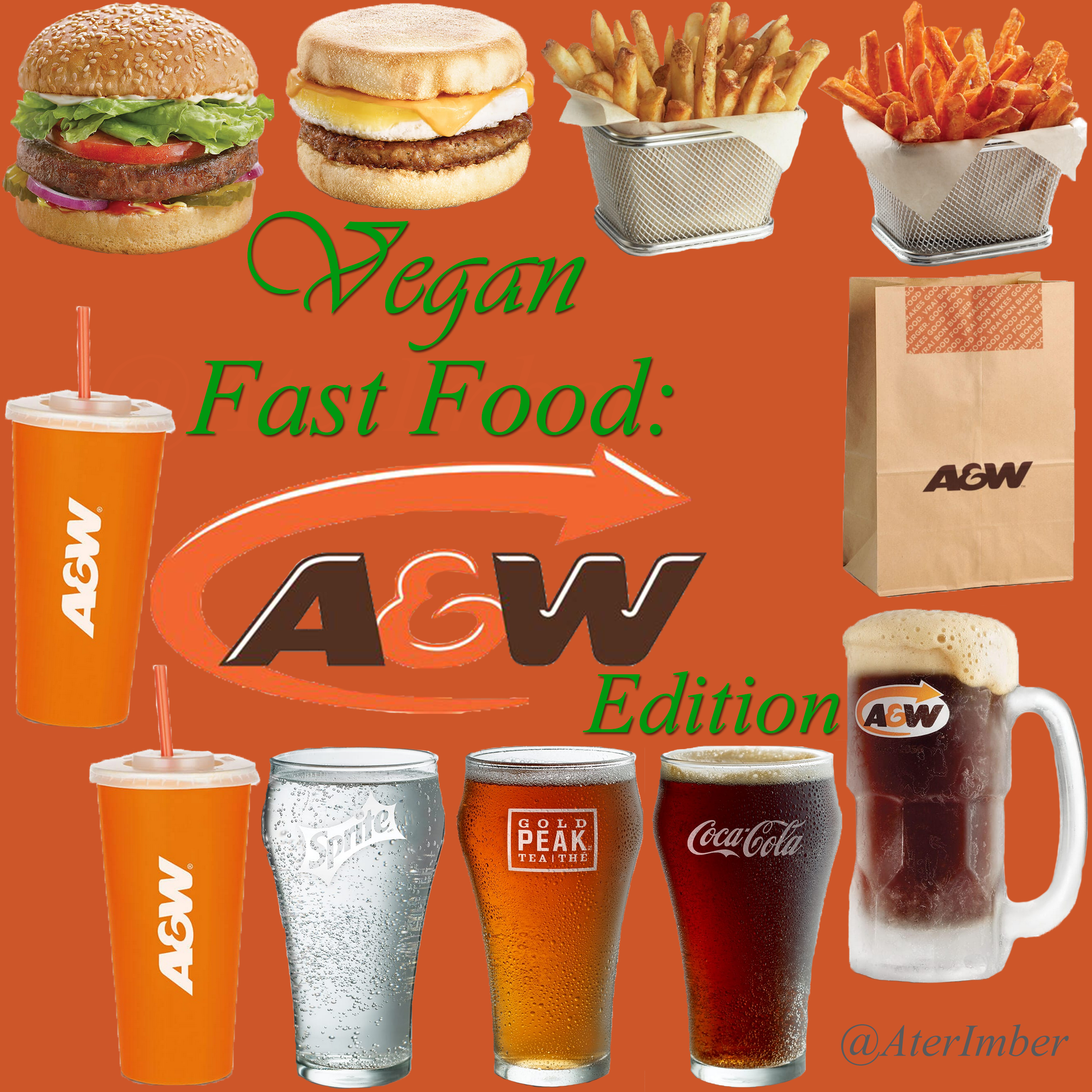 AterImber.com - The Veg Life - Vegan Fast Food Series - A&W Edition - vegan fast food, vegan food, fast food, a&w, takeout