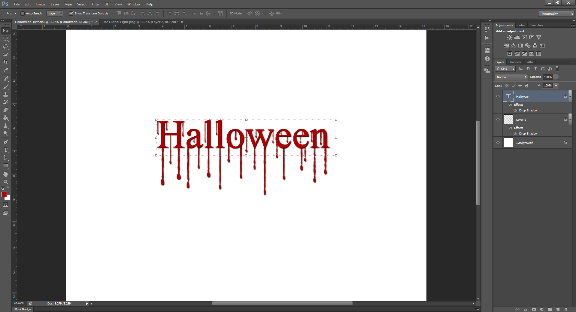 AterImber.com - Writing Tips - PHSH Effect Seris - PHSH Effect 13 - Blood Drips - Drop Shadow Halloween - phsh, photoshop, phsh tutorial, photoshop tutorial