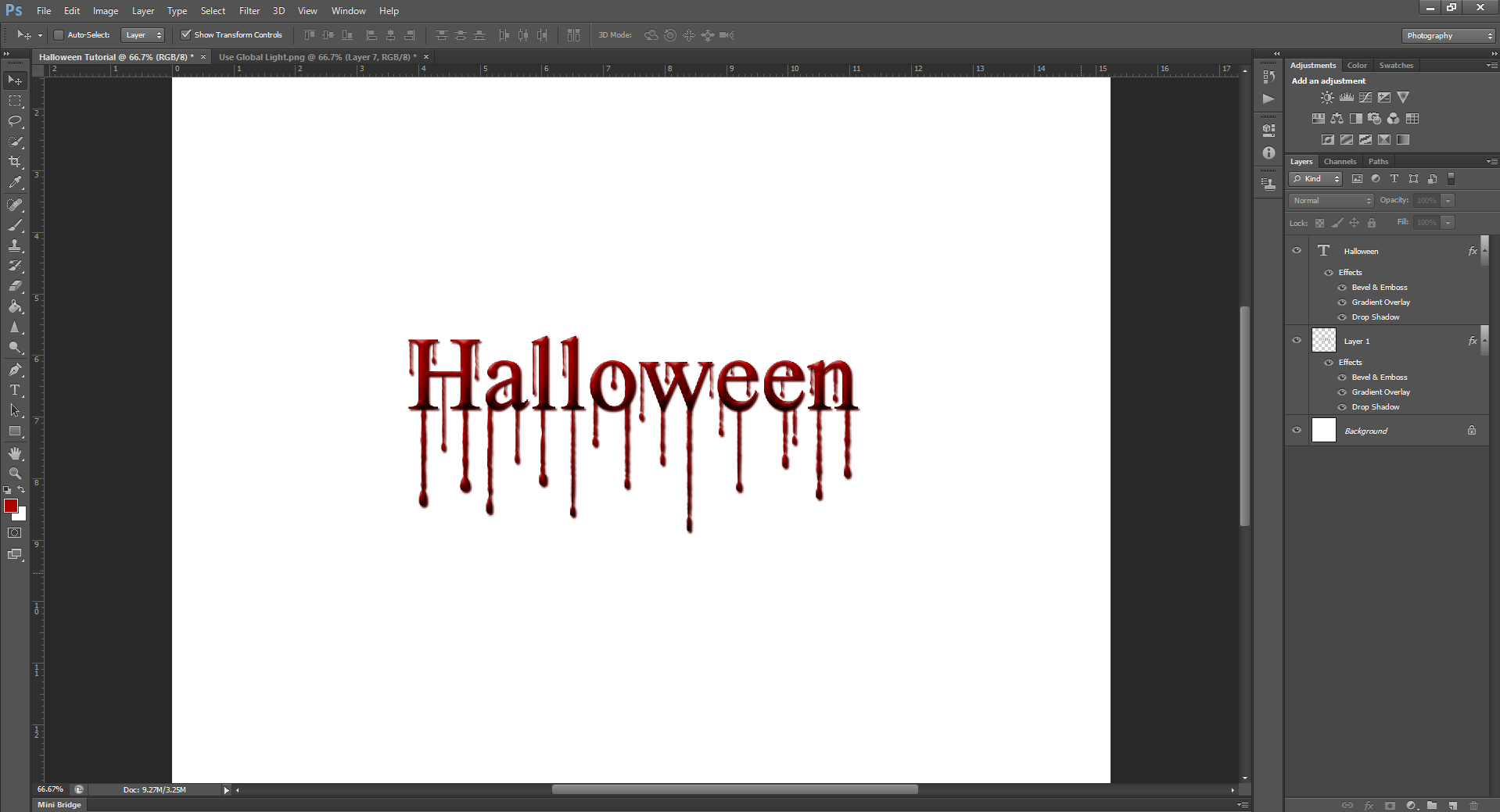 AterImber.com - Writing Tips - PHSH Effect Seris - PHSH Effect 13 - Blood Drips - Gradient Overlay Halloween - phsh, photoshop, phsh tutorial, photoshop tutorial
