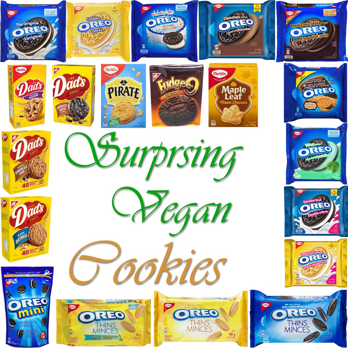AterImber.com - The Veg Life - Vegan Tips - Surprising Vegan Series - Surprising Vegan Cookies - vegan food, vegan snacks, cookies, Oreos, Dad's cookies, Pirate cookies, Fudgee-Os, Maple Cookies, Mr. Christie Cookies, food blogger