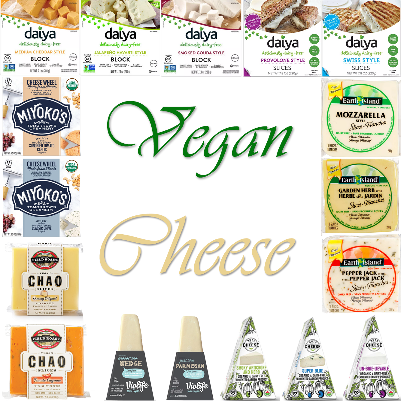 AterImber.com - The Veg Life - Vegan Tips - Vegan Cheese Alternatives - Vegan Cheese Alternatives - how to make cheese, Daiya, Miyoko's, Nuts for Cheese, Earth Island, Field Roast, Chao, vegan food, vegan cheese, food blogger
