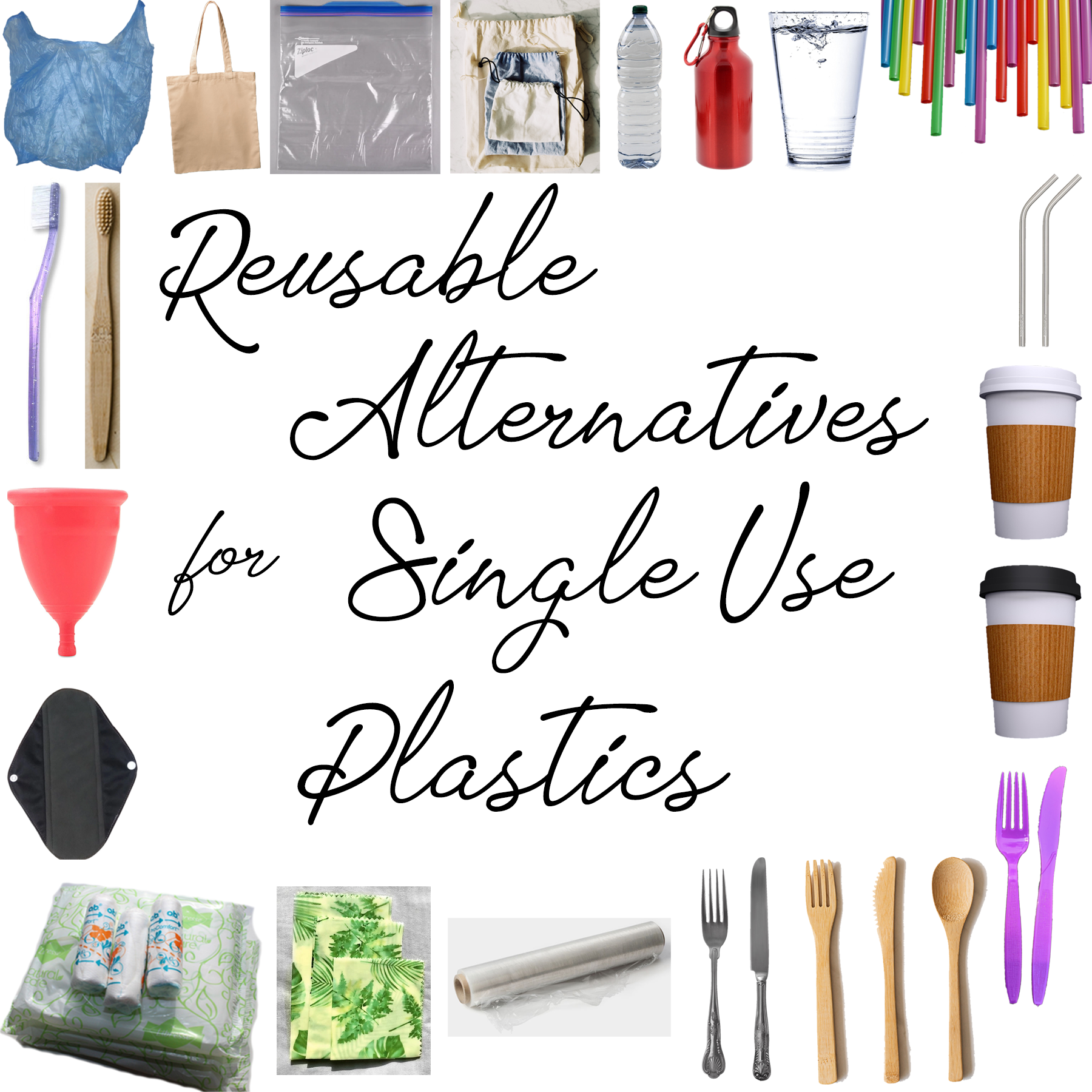 AterImber.com - No Mad - Reusable Alternatives for Single Use Plastics - Nutrient Collage Series - Omega-3's Collage - vegan tips, vegan food, vegan blogger, health tips, nutrients, Omega-3's, vegan food blogger, new vegan tips