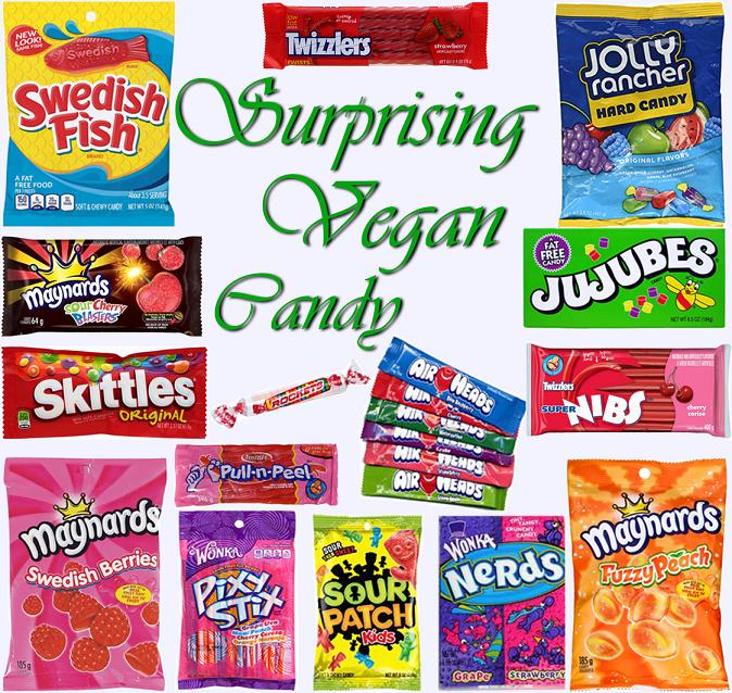 AterImber.com - The Veg Life - Vegan Tips - Surprising Vegan Candy Collage