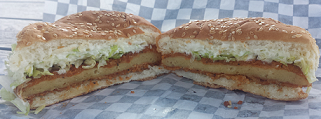 Globally Local Crispy Chickn Burger - AterImber.com - The Veg Life - Vegandale Festival 2018