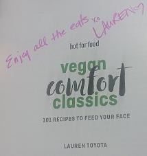HotforFood Cookbook - Lauren Toyota Youtuber - AterImber.com - The Veg Life - Vegandale Festival 2018