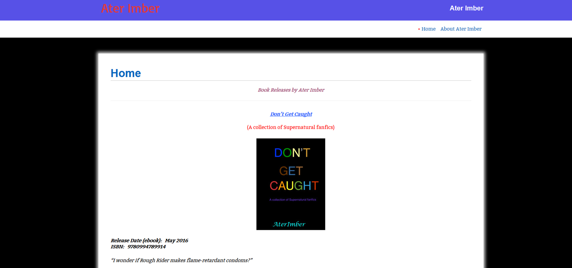 AterImber.com - Bloggy - Original Website Design