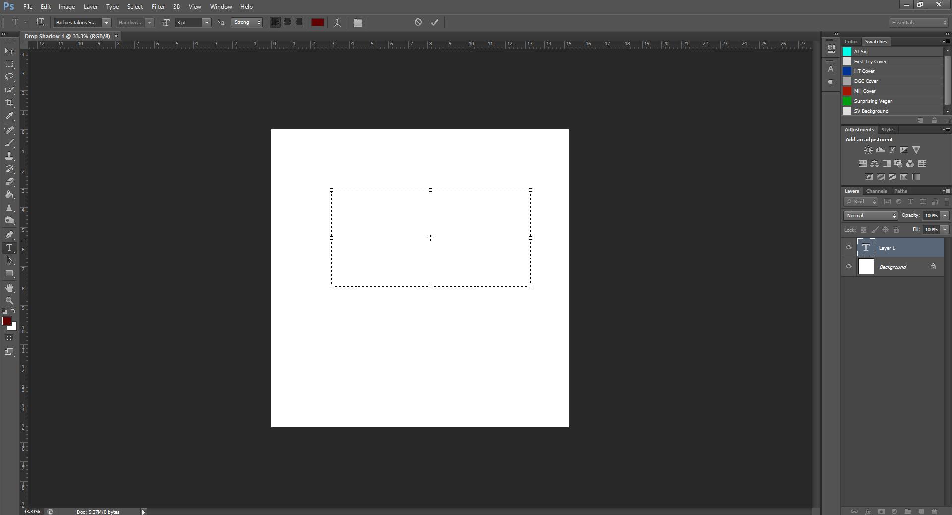 AterImber.com - Writing - Writing Tips - PHSH Tutorial - Drop Shadow - Text Box - PHSH Tutorial, book design, cover design