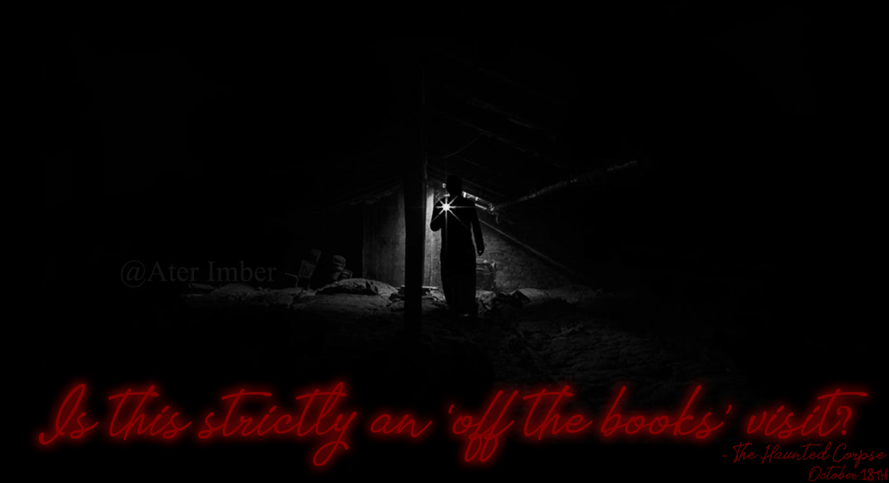 AterImber.com - Writing - Books - The Haunted Corpse - Off the Books Poster