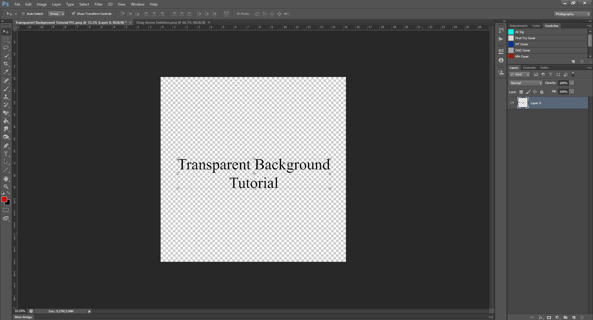 AterImber.com - Writing Tips - PHSH Tutorial - Making a Transparent Background - Grey and White Checkers