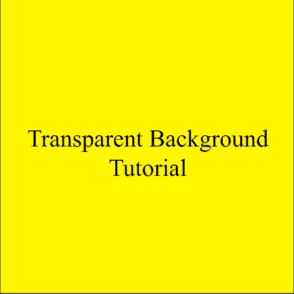 AterImber.com - Writing Tips - PHSH Tutorial - Making a Transparent Background - Trans Yellow