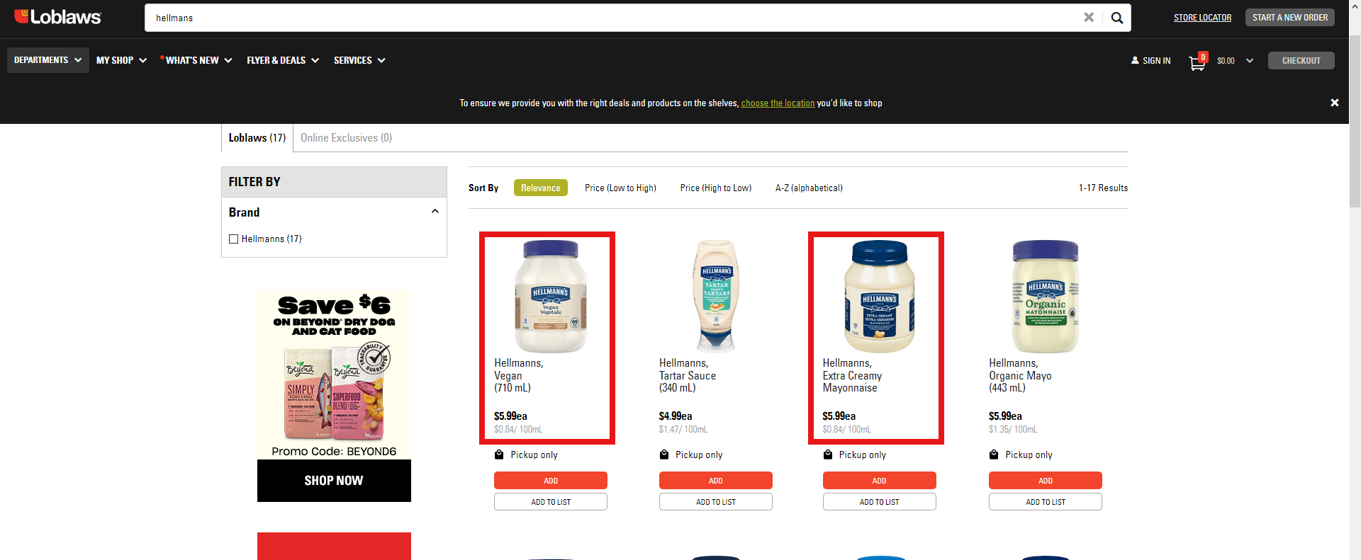 AterImber.com - The Veg Life - Product Reviews - Hellmans Carefully Crafted Dressing and Sandwich Spread - Price Comparison on Loblaws.ca - vegan food, vegan food reviewer