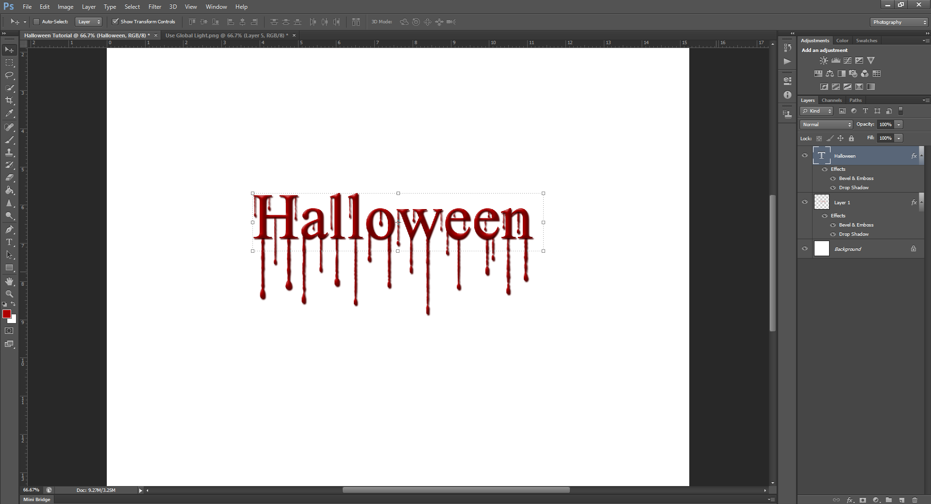 AterImber.com - Writing Tips - PHSH Effect Seris - PHSH Effect 13 - Blood Drips - Bevel and Emboss Halloween - phsh, photoshop, phsh tutorial, photoshop tutorial