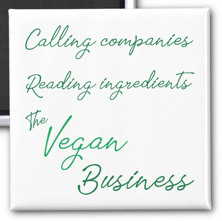 AterImber.com - The Veg Life - Vegan Business Button (Square) - veganism, vegan food, vegan jokes, vegan merch