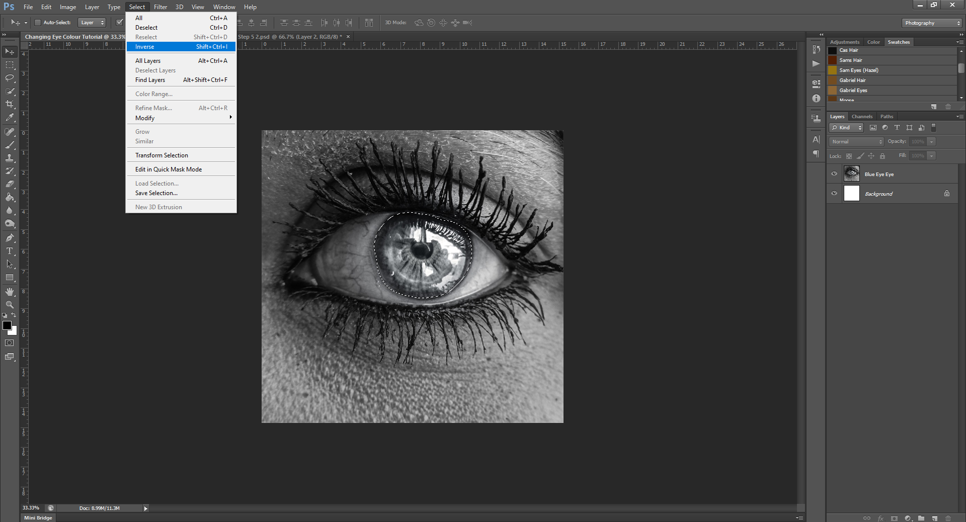 AterImber.com - Writing Tips - Photoshop Tutorial Series - PHSH Effect 15 Changing Eye/Skin Colour - Step 6 - phsh, phsh effect, phsh tutorial, tutorial, photoshop tutorial, indie author help, book covers, writing tips