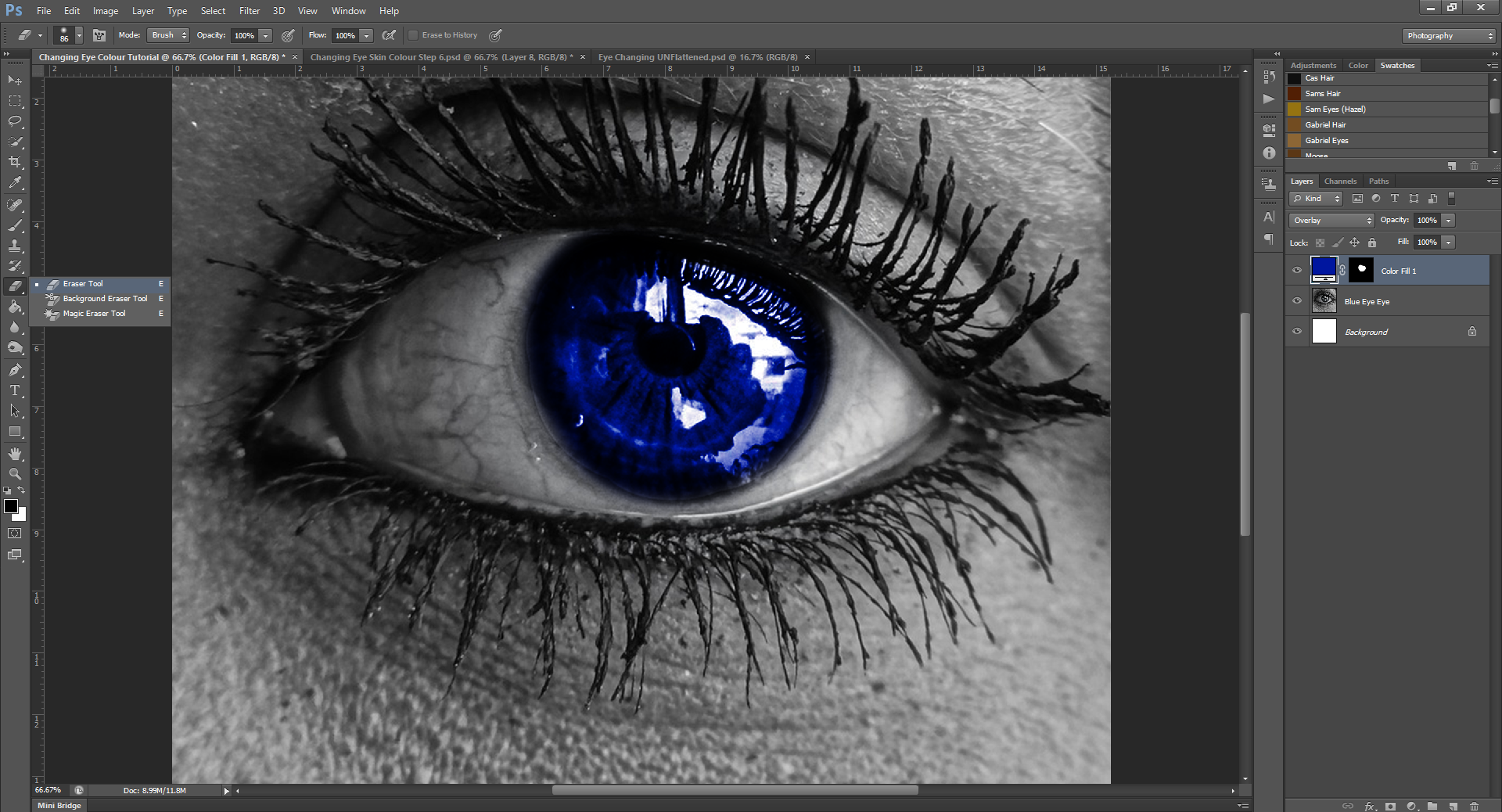 AterImber.com - Writing Tips - Photoshop Tutorial Series - PHSH Effect 15 Changing Eye/Skin Colour - Step 8 - phsh, phsh effect, phsh tutorial, tutorial, photoshop tutorial, indie author help, book covers, writing tips