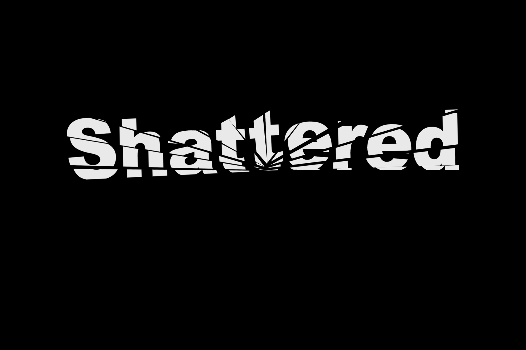 AterImber.com - Writing - Writing Tips - PHSH Tutorial Series - Shattered Text - Shattered Text Effect Done - phsh, phsh tutorial, photoshop, photoshop tutorial, phsh effect