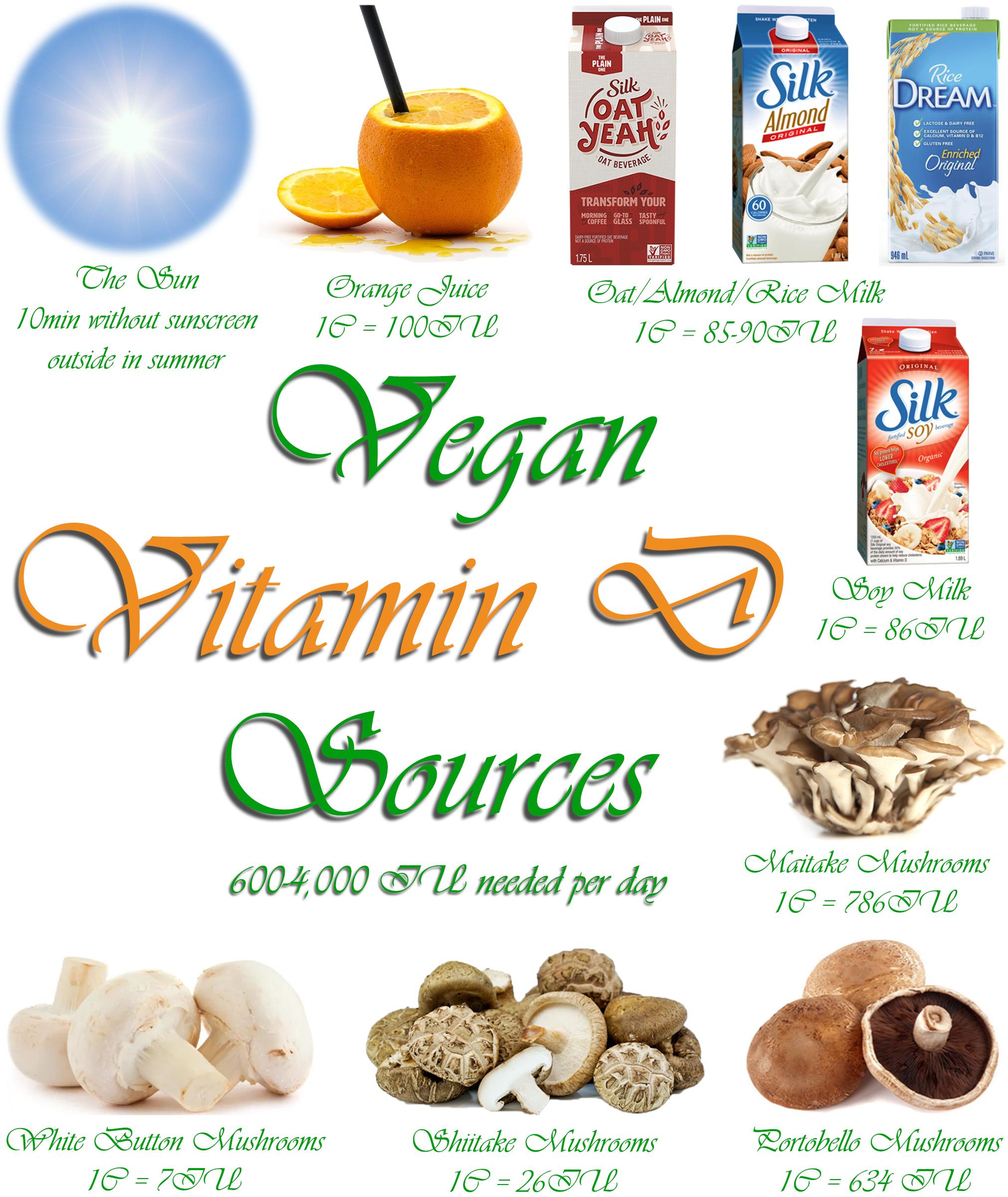 AterImber.com - The Veg Life - Vegan Tips - Vegan Nutrients Series - Where Do Vegans Get Their Vitamin D? - Vitamin D Collage - vegan tips, vegan food, vegan nutrients, vegan food blogger, food blogger