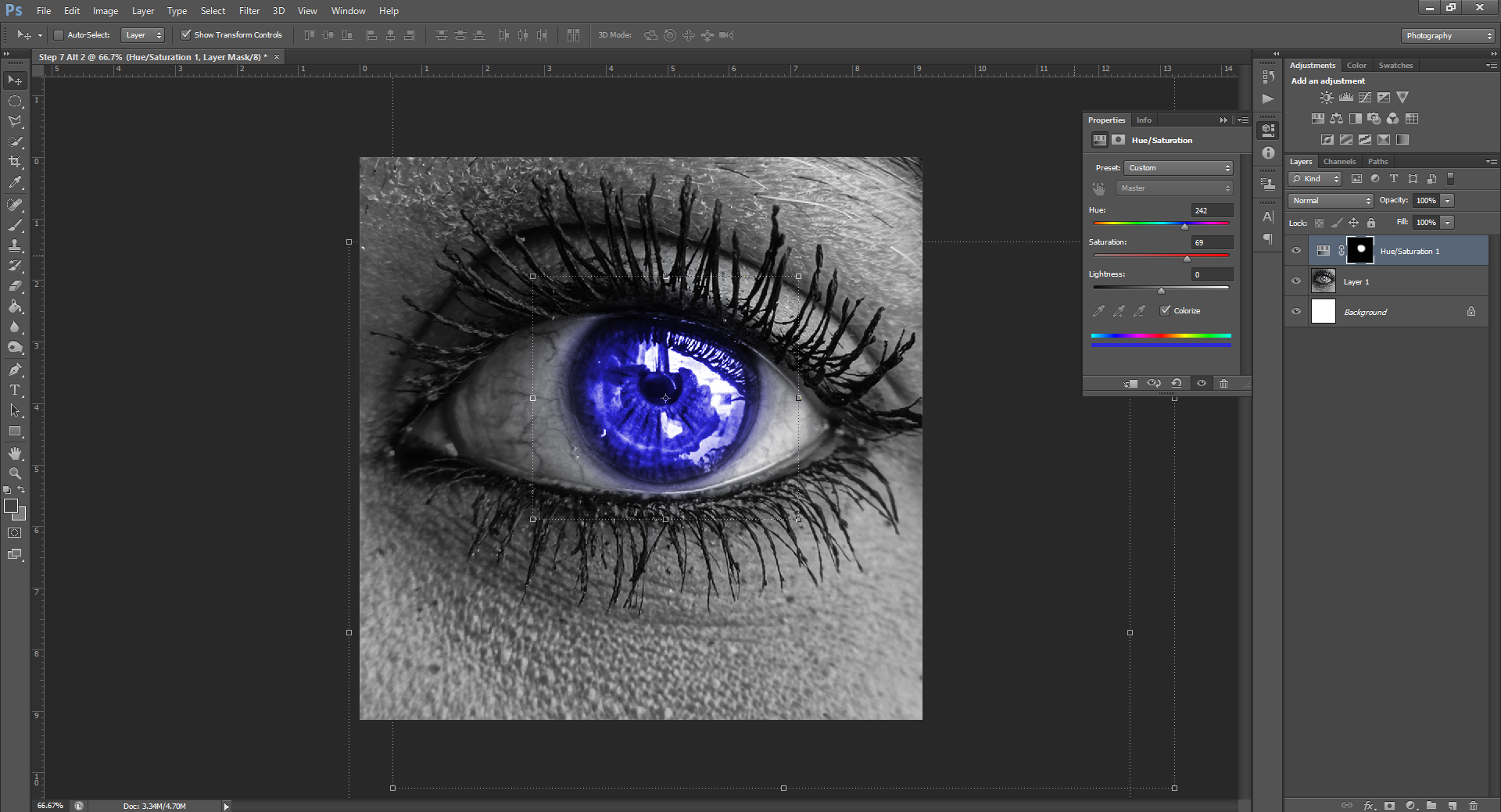 AterImber.com - Writing Tips - Photoshop Tutorial Series - PHSH Effect 15 Changing Eye/Skin Colour - Step 7 Alt 2 - phsh, phsh effect, phsh tutorial, tutorial, photoshop tutorial, indie author help, book covers, writing tips